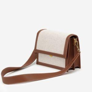 NWT | Mini Flap Bag - Beige Canvas